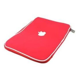 "13.3"" Apple Macbook soft carry case sleeve (Red)"