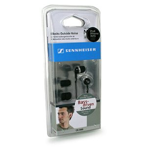 Sennheiser CX 300 Stereo Ear-Canal Headphones - Black - Click Image to Close