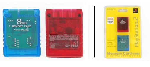 Sony PS2 8MB Memory Card (2 pack) - Click Image to Close