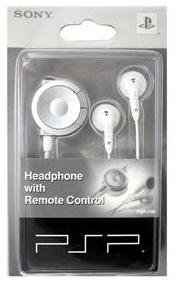 Sony Playstation PSP 1000 Remote Control Headphones (white)