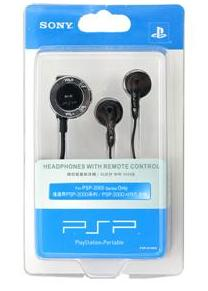 Sony Playstation PSP 2000/3000 Remote Control Headphones (Black)