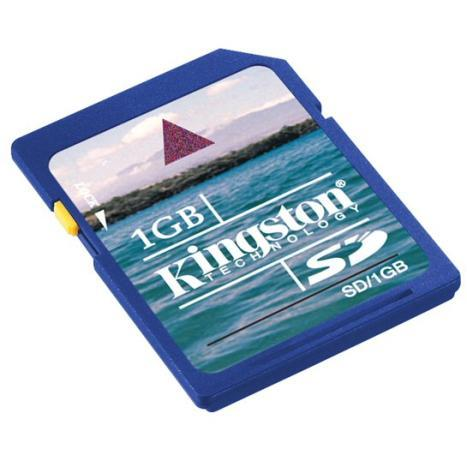 Kingston 1GB Secure Digital Memory Card - Click Image to Close